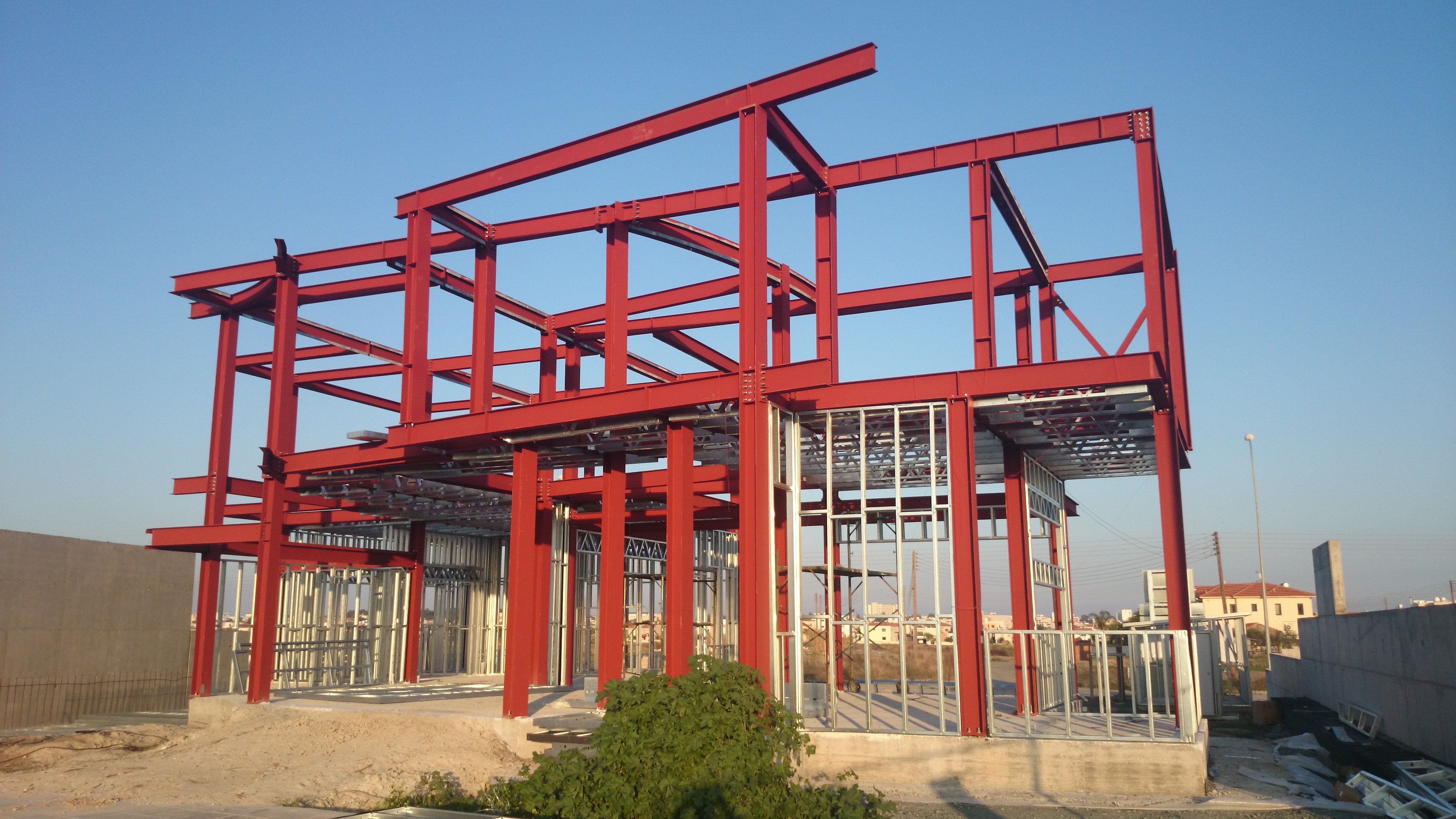 Steel Frame House Construction : Steel frame house cyprus individual architecture