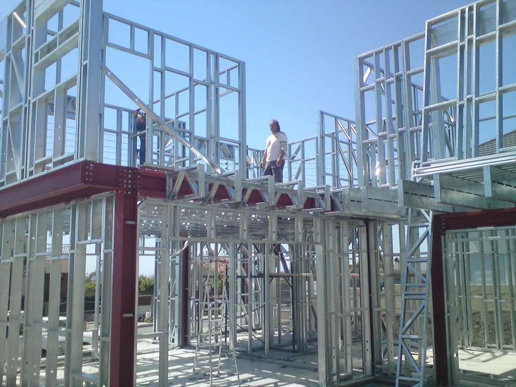 Steel frame structure agios syllas pelasgos homes Steel frame homes