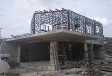 Steel frame house in Ayia Anna –         First floor level