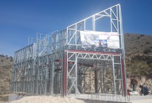 Metal skeleton construction External wall frames