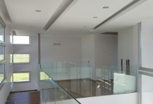 Suspended ceiling design in a steel frame home in Aradipou