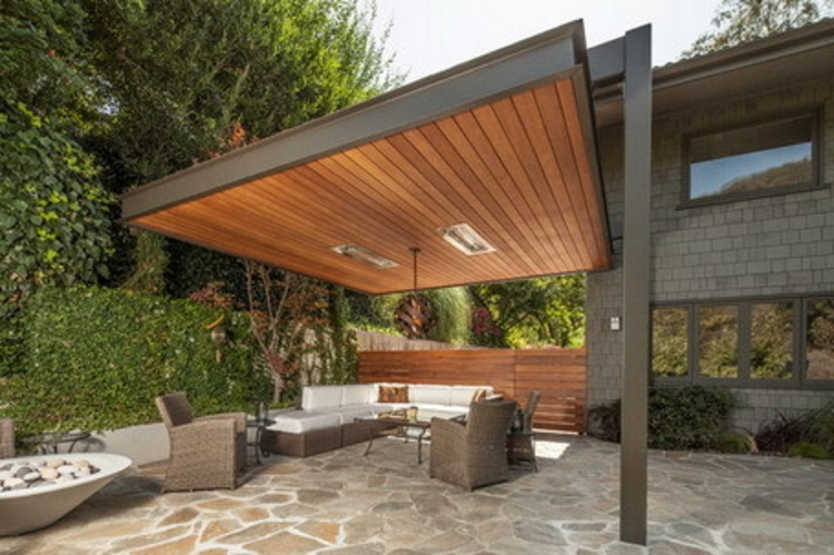 Metal frame pergolas in combination with wood by pelasgos homes pelasgos homes - Pergolas de metal ...