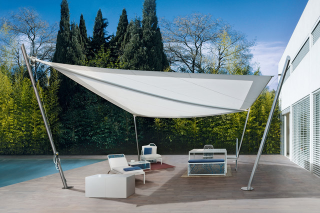 ... modern-outdoor-products & Modern sunshades with metal frame and tent with Pelasgos Homes ...