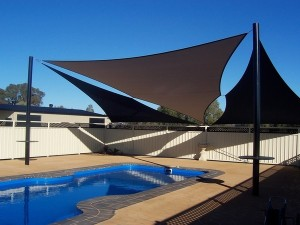 modern-patio-pool-shade-sail-awnings-garden-fence-privacy-protection