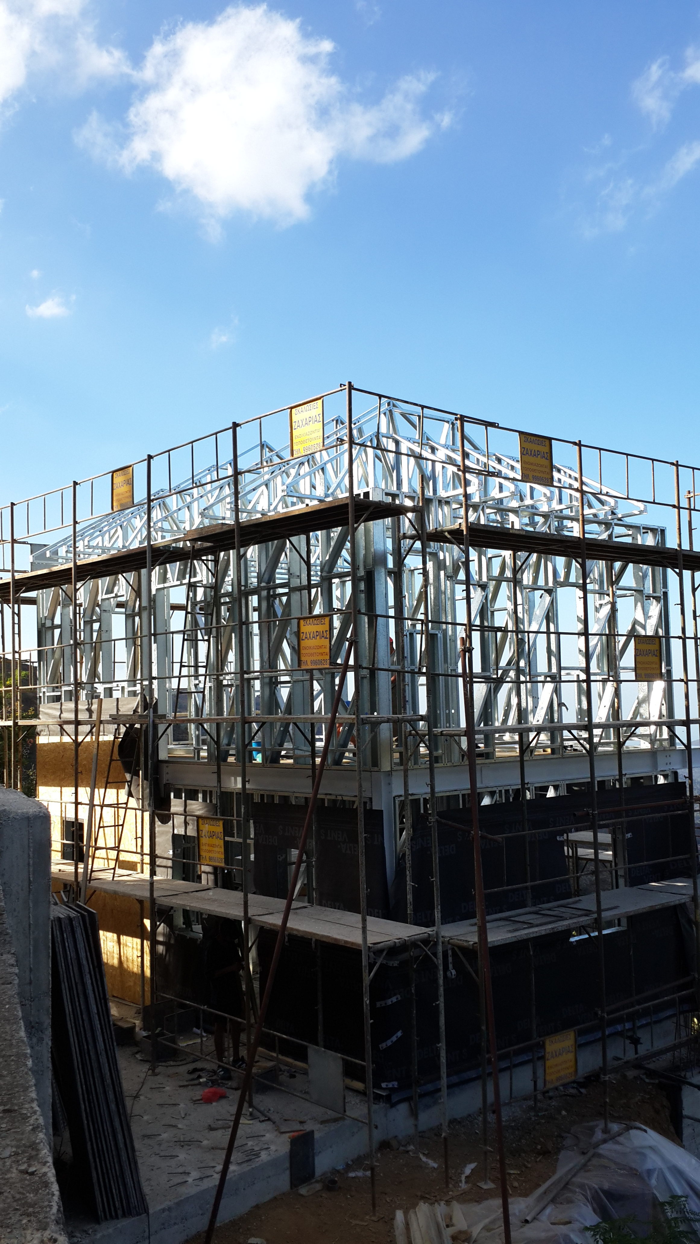 Steel Frame Construction In Pedoulas Pelasgos Homes
