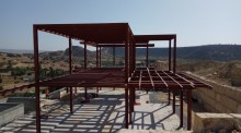Project in Pissouri with steel structure